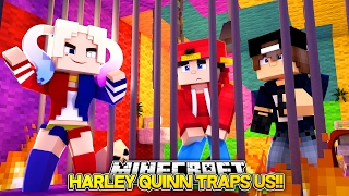 Minecraft Adventure - TRAPPED IN HARLEY QUINNS BASE!!!!
