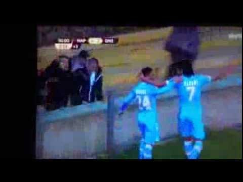 Edinson Cavani Napoli - Dinipro (Gol del 4-2)