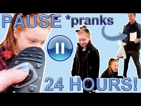 24 Hours Pause Challenge *Funny Family Pranks || Ruby Rose UK