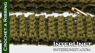 How to crochet - basics for beginners - crochet a ribbing 17a1052960d