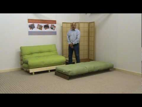 fold out sofa bed uk chesterfield velvet mink oxford pine futon sofabed - youtube