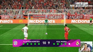 Bayern Munich vs Real Madrid   Penalty Shootout   PES 2020 eFootball Scoreboard for PES 2019