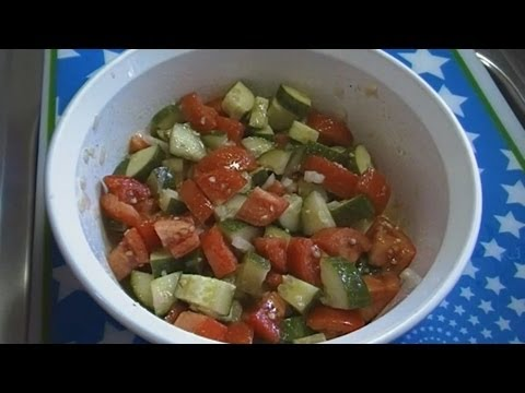 Classic Tomato & Cucumber Salad! Noreen's Kitchen Fast & Fresh!