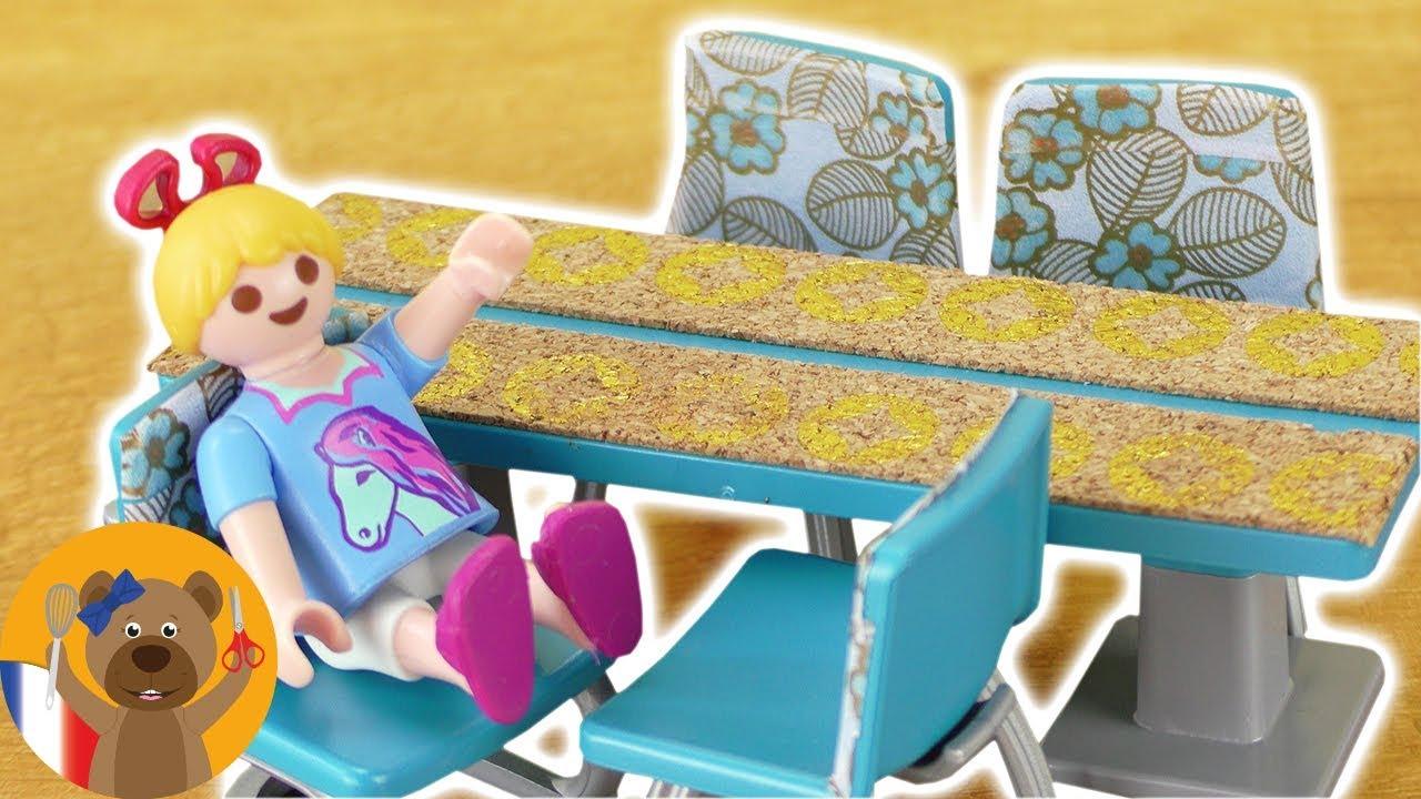 Diy Salon Playmobil Decoration Table Et Chaises Nouveau Salon