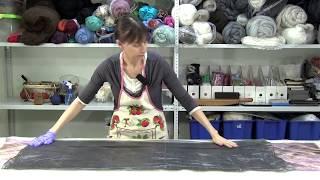 ✿Урок 6, часть2✿Валяем шарф в технике нунофелтинг