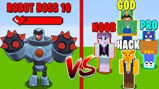 Minecraft NOOB vs PRO vs HACKER vs GOD: Brawl Stars Boss in Minecraft! Animation