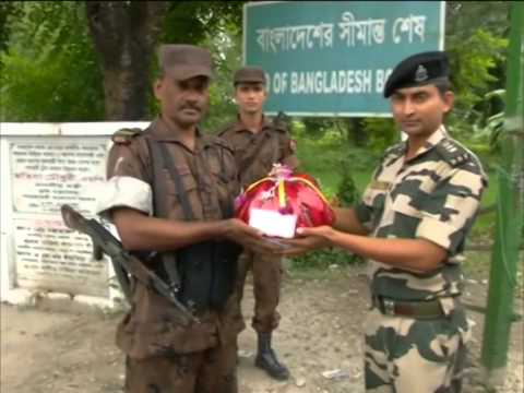 India-Bangladesh soldiers at border exchange sweets on 69th Independence Day