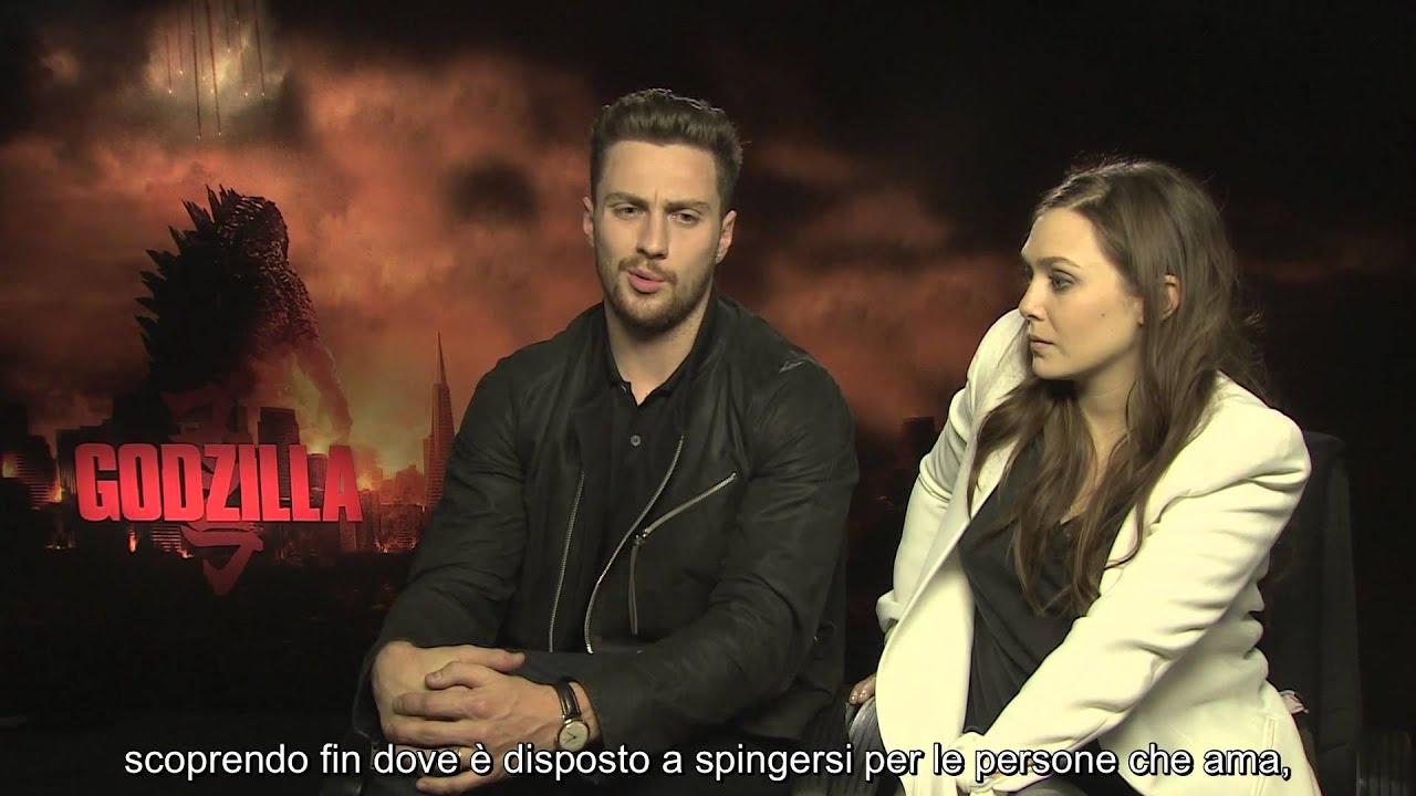 Godzilla - Intervista a Aaron Taylor-Johnson e Elizabeth ...