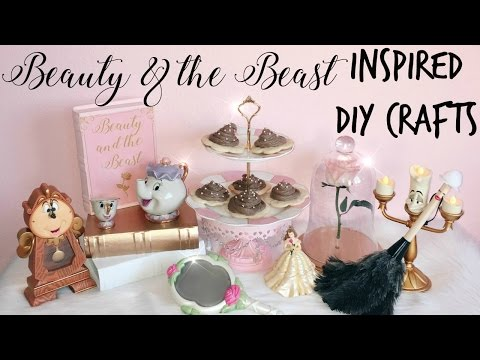 Easy & Affordable Beauty & the Beast Inspired DIY Crafts! ♡
