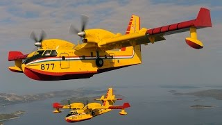 The flight of Canadair CL 415