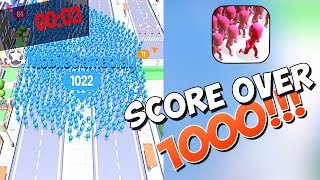 HIGHSCORE OVER 1000 IN CROWD CITY!!! (VOODOO)