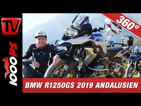 360 Grad - Blickrichtung am Handy ändern - Virtual Reality - BMW R 1250 GS 2019 Andalusien