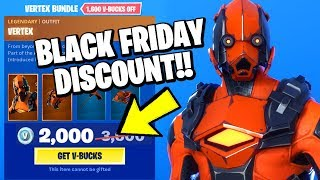 *NEW* Fortnite BLACK FRIDAY ITEM SHOP (40% DISCOUNT/1600 VBUCKS FREE) VERTEX BUNDLE