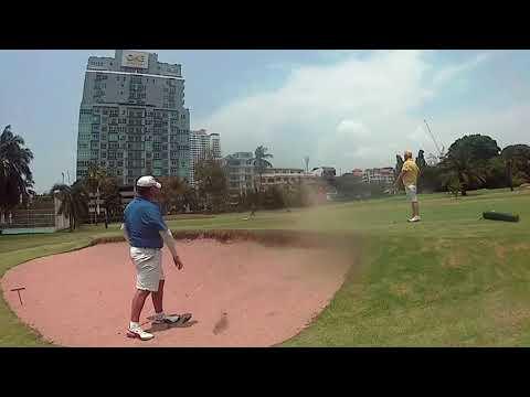 9th Hole ZZ Bunker Shot Asia Pattaya Golf Course Pattaya Thailand