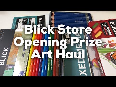 New Blick Art Store Opening Prize Art Haul