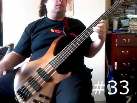 50 video game songs, riffs and licks on bass - in one take!