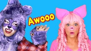 Three Little Pigs | Animal Song and Story | Nursery Rhymes for Kids, Toddlers and Baby