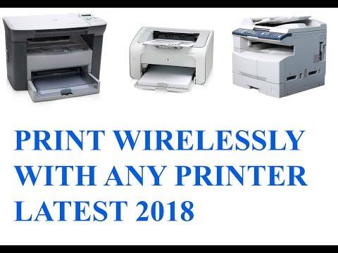 WIRELESS PRINTING FROM ANY PRINTER LIKE Hp M1005 Lateset 2018