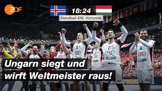 Island - Ungarn 18:24 - Highlights | Handball-EM 2020 - ZDF