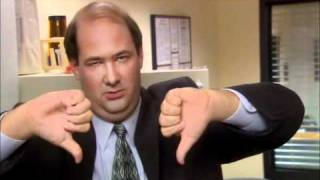 Kevin The Office: Two thumbs down