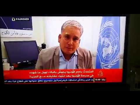 UN member breaks down after witnessing Israeli massacre of children