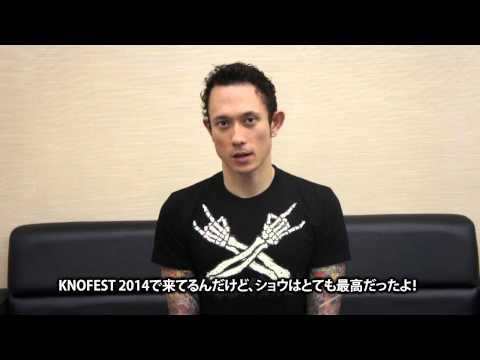 "TRIVIUM ""KNOTFEST JAPAN 2014""-激ロック 動画メッセージ"