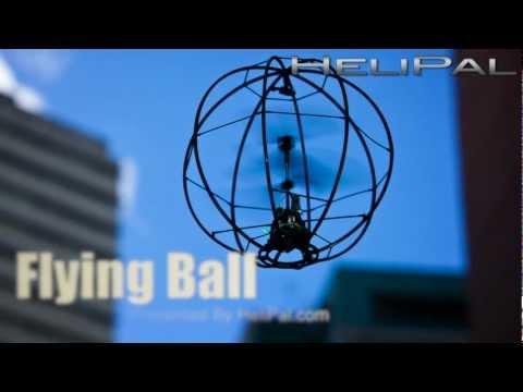 HeliPal.com - Flying Ball w/Gyro Test Flight