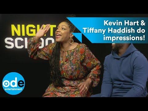 Kevin Hart & Tiffany Haddish do FUNNY high school impressions of each other