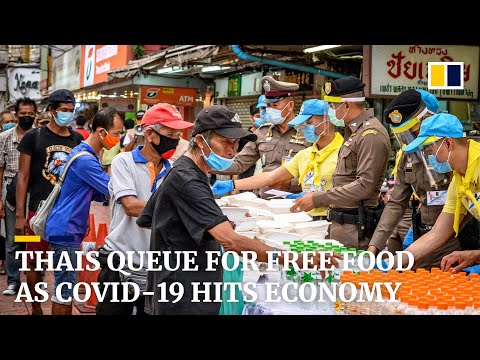 Jobless Thais queue for food as economy worsens amid the coronavirus pandemic