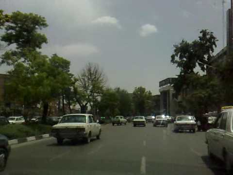 Mashhad, Iran streets and the news on radio Mashhad