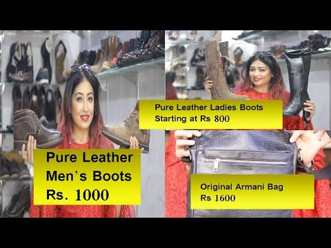 Asia's Biggest Leather Market  Leather FootWear at 80% | Sadar Bazar Agra| Branded Boots at 80% OFF