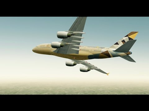 [HD] Infinite Flight. Multiplayer. ATC. Airbus A380 Etihad takeoff at Heathrow Airport