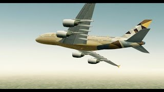 [HD] Infinite Flight. Multiplayer. ATC. Airbus A380 Etihad takeoff at Heathrow Airport