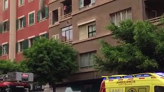 Incendio en la Calle Ramón y Cajal de Palma