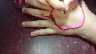 Hand mouth| suicide squad's joker hand tattoo tutorial