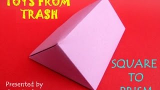 Square to Prism | Telugu | Maths with Paper Folding