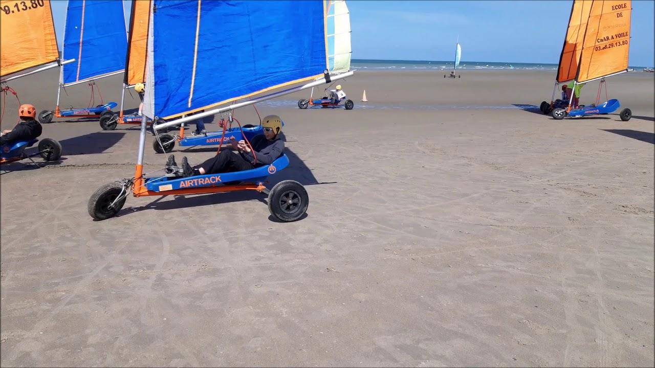 Char A Voile Dunkerque Surf Olivia 5 Ans Course A Pieds Contre Enzo Velo Balai Sorciere Youtube