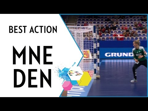 Lazovic hits the post - so hard the ball gets stuck | Montenegro vs Denmark | EHF EURO 2016