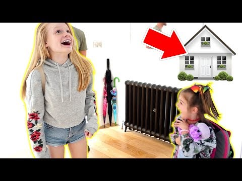 OUR NEW HOUSE REVEAL TO KiDS 😍 **FiNALLY MOViNG iN!**