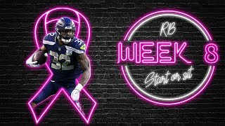 2019 Fantasy Football - Week 8 Running Back Start or Sit