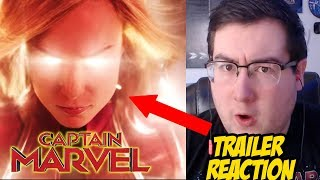 Captain Marvel Official Trailer REACTION and REVIEW