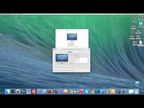 How to change resolution on an Apple iMac