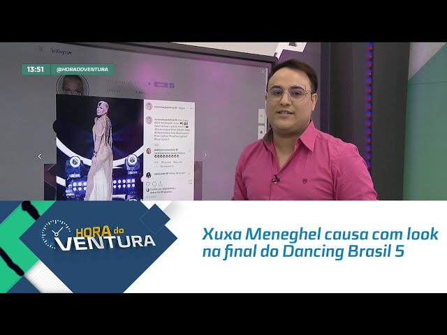 Xuxa Meneghel causa com look na final do Dancing Brasil 5 - Bloco 01