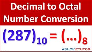 Decimal to Octal Number Conversion Method - Digital Electronics Numericals -