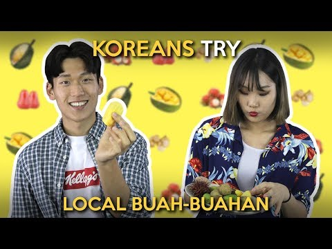 Koreans Try Local Buah-Buahan