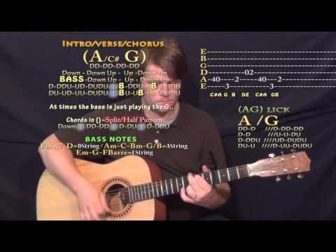 Antidote (Travis Scott) Guitar Lesson Chord Chart - Capo 4th
