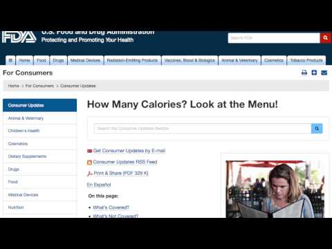 FDA Implements New Calorie Labeling Rules for Restaurants