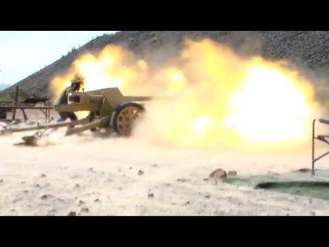 Pak-40 German 75mm AT Gun Firing