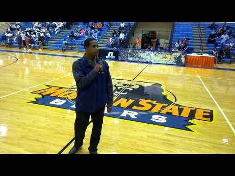 Bears new Football Head Coach Lee Hull - Halftime introduction to Morgan State.