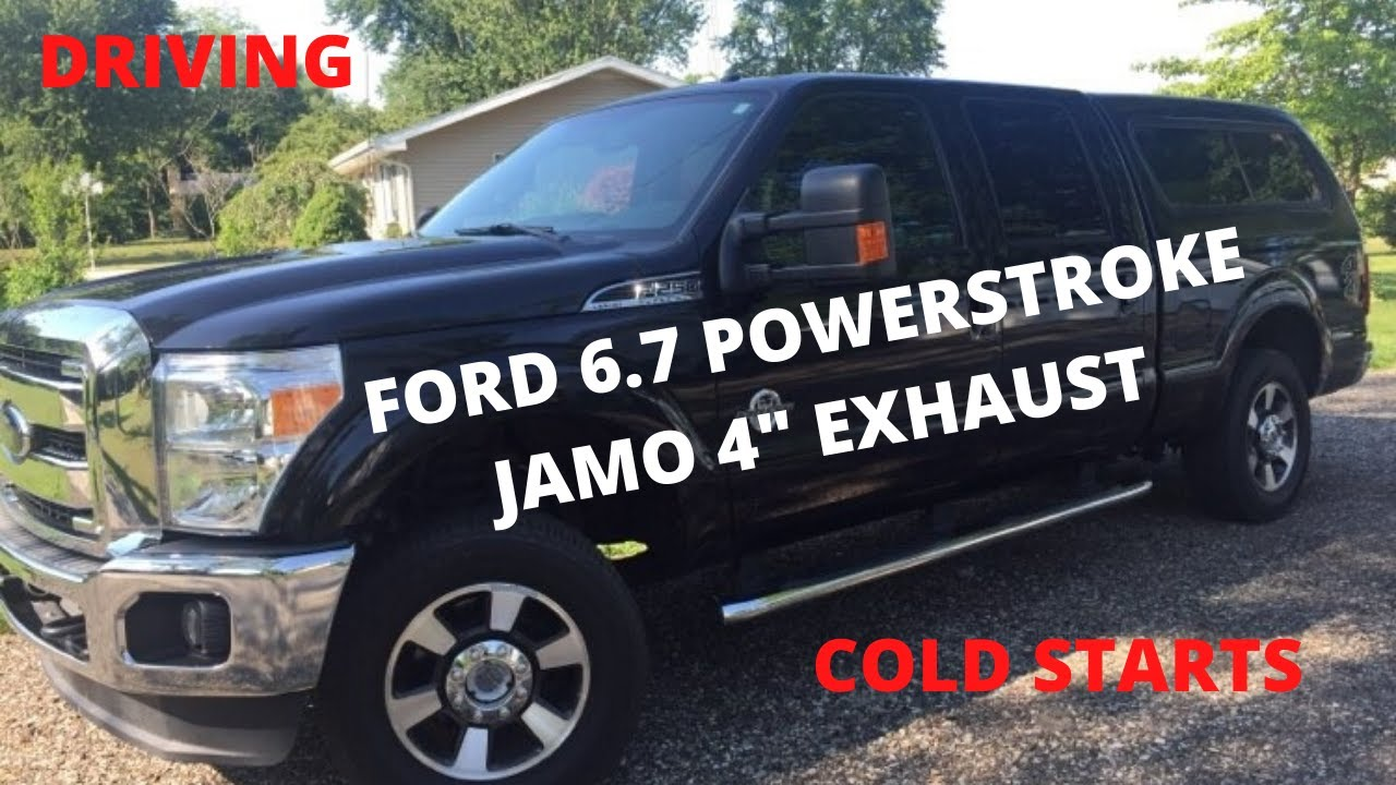 2015 Ford F250 6 7 Powerstroke Full 4 Jamo Exhaust Sounds Tuned Driving Cold Starts Youtube